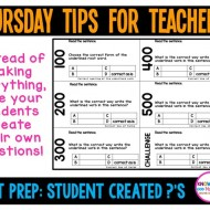 Bloom's Taxonomy: Student Created Practice Test