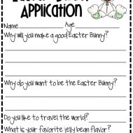 Substitute Easter Bunny Application