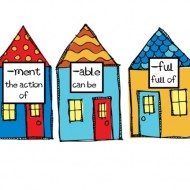 Free Printable Suffixes Center Activity: Suffix Houses