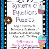 Systems of Linear Equations Freebie