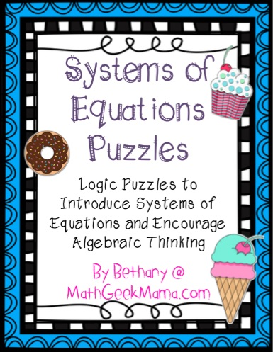 Systems of Equations Puzzles - Teach Junkie