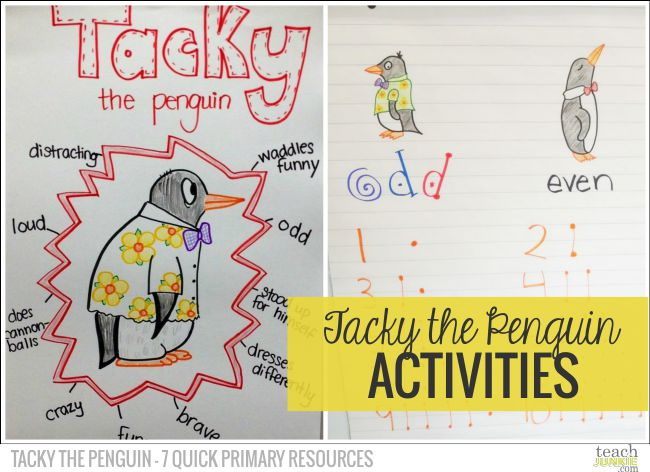 Tacky The Penguin Activities - Tacky the Penguin - 7 Quick Primary Resources