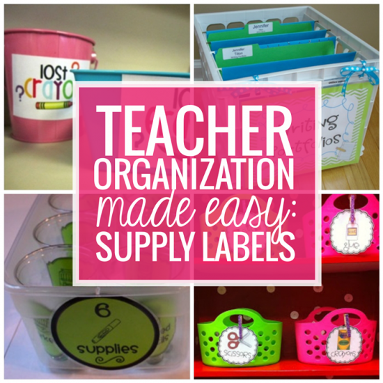 Teacher Organization Made Easy Supply Labels