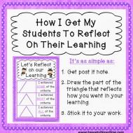 Teaching Self Reflection – Sticky Note Style