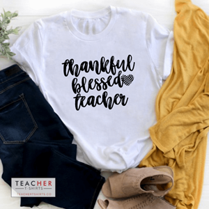 Thankful blessed teacher t-shirts