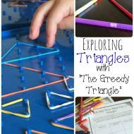 """Hands-on Math Lessons with """"The Greedy Triangle"""""""
