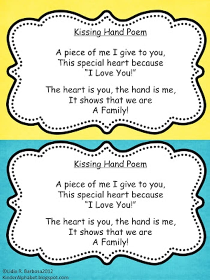 The Kissing Hand - Free Activity Booklet Poem