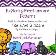Patterns with Fractions: The Lion's Share Printables
