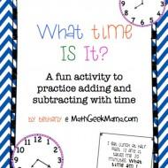 Fun Elapsed Time Clock Hunt Activity