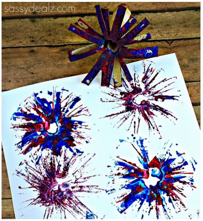 8 Fast and Friendly Patriotic Freebies - Teach Junkie - Toilet Paper Roll Fireworks
