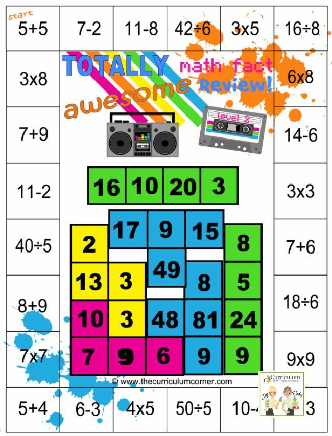 Totally Awesome Fun Math Games - Mixed Math Facts - Teach Junkie