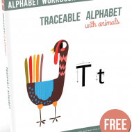 Traceable Letters with Animals
