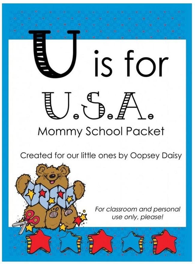 8 Fast and Friendly Patriotic Freebies - Teach Junkie - U is For Usa