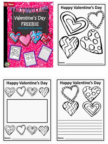 valentine coloring stationary pages - photo#1