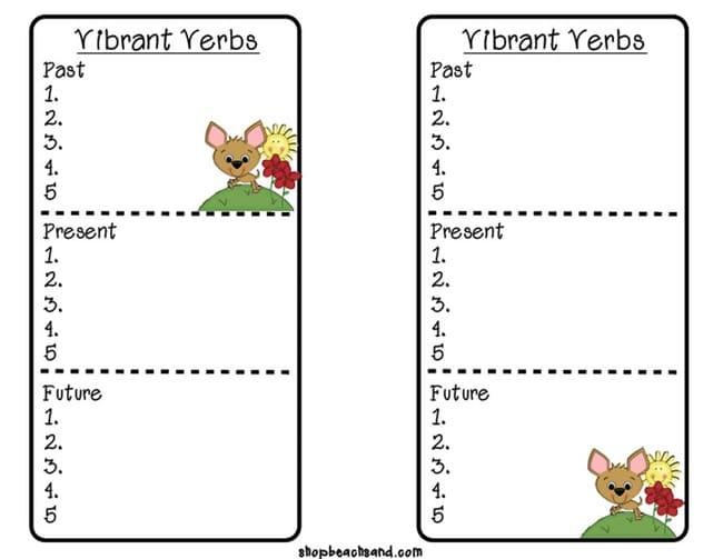 Teach Grammar with Parts of Speech Bookmarks - Teach Junkie