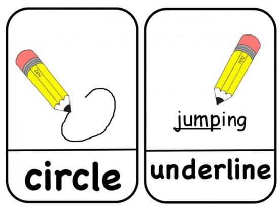 Visual Direction Cards: Free Printable - Teach Junkie