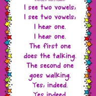Vowel Teams Song and Flash Cards