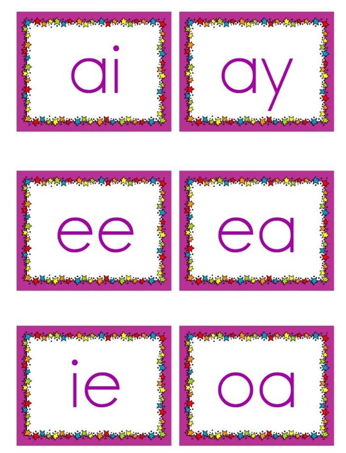 Vowel Teams Songs and Flash Cards - this turns out to be so much fun