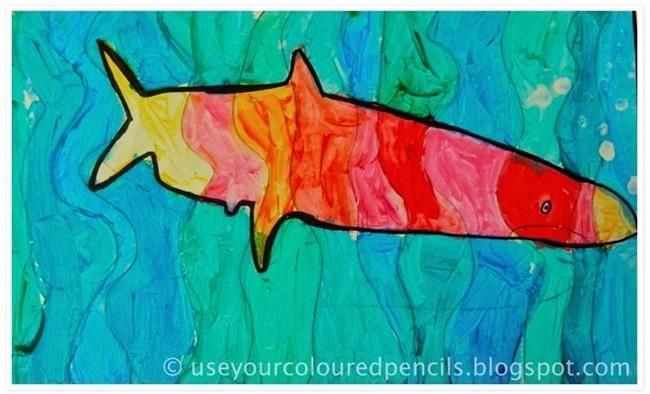 Sea Creatures Paint Project - Teach Junkie