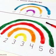 Watercolor Number Bonds Activity