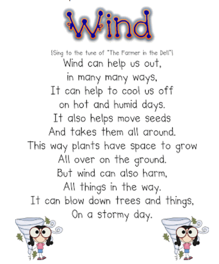 Weather Lesson Ideas +Free Weather Book Activity Wind Song