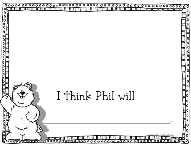 Groundhog Day - 14 Heads Up Ideas - What Will Phil Do - Teach Junkie