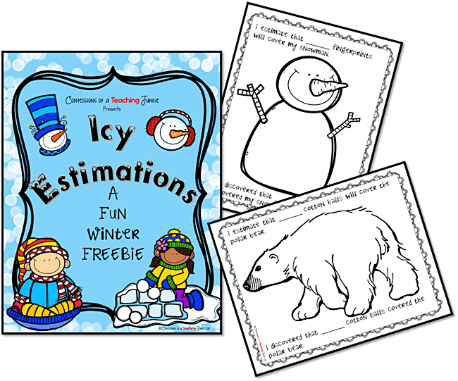 Winter Estimation Activity Printables - Teach Junkie