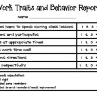 Free Behavior Report Sheets