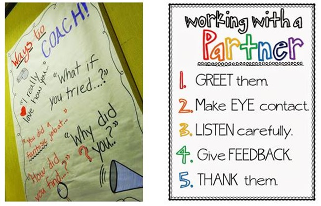 Working With a Partner Poster - Collection Free Classroom Posters - Teach Junkie