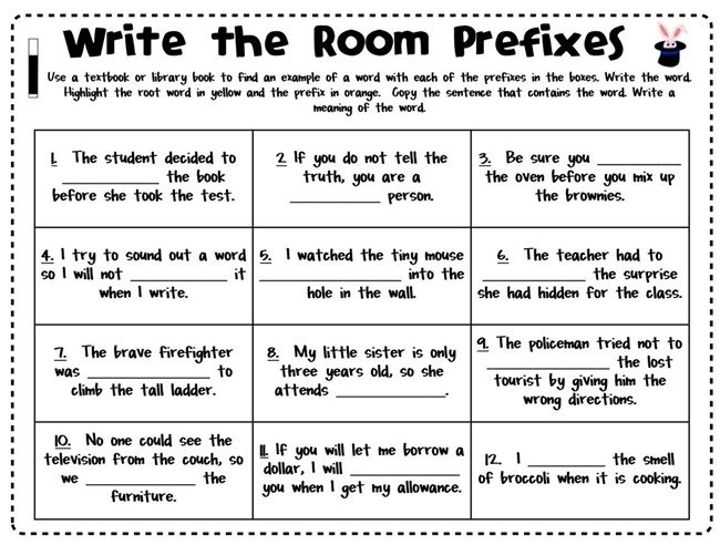 Freebie: Magical Prefixes Write the Room - Teach Junkie
