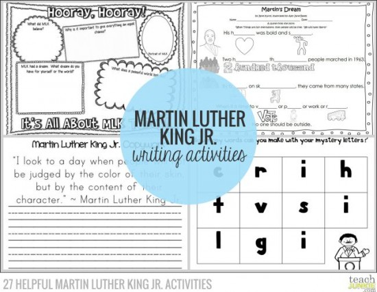 Writing Activities - 27 Helpful Martin Luther King Jr. Activities: Teach Junkie