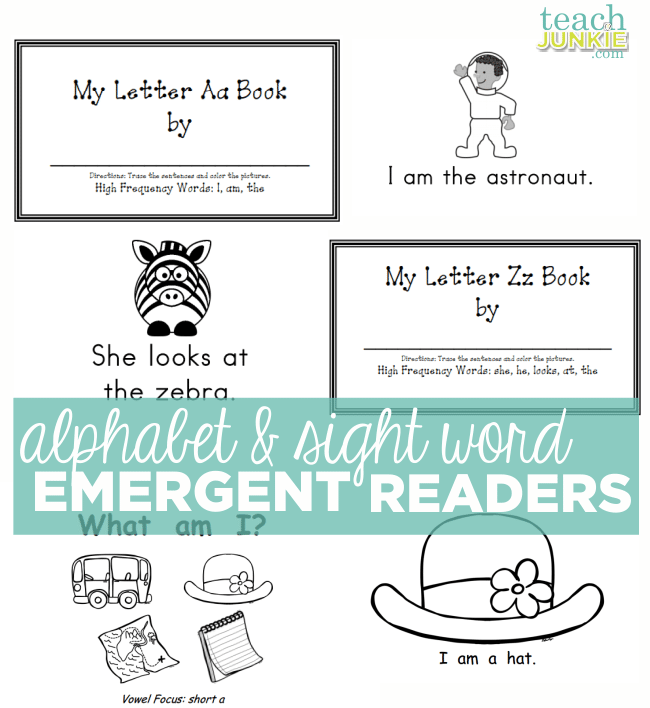 Alphabet and Sight Word Emergent Readers - Teach Junkie