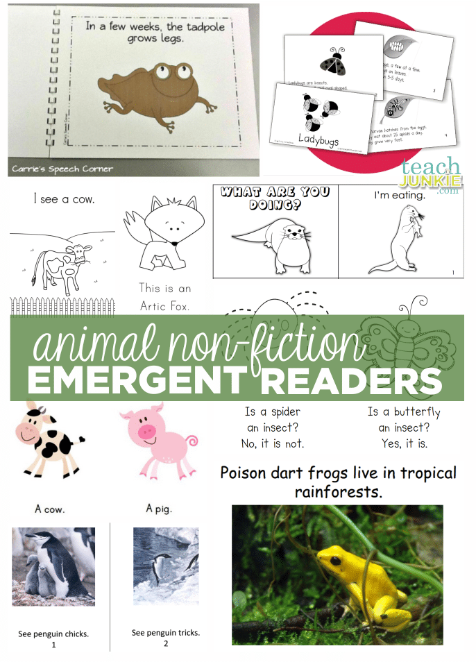 Emergent Readers Non-Fiction Animals - Teach Junkie.com