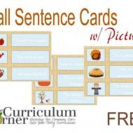 Fall Sentences Pocket Chart Match Up