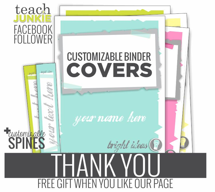 Thank You Gift for Facebook Fans - Teach Junkie