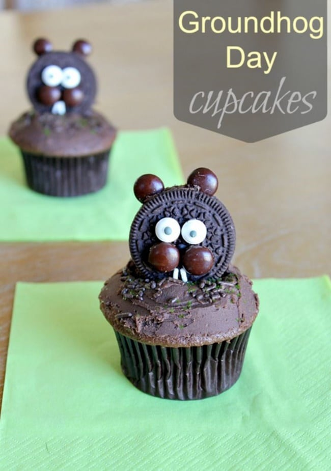 It's Groundhog Day! 16 Free Teacher Ideas - groundhog cupcakes - Teach Junkie