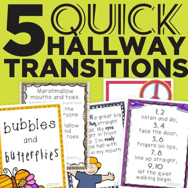 hallway-transitions-for-kindergarten - 27 Classroom Poster Sets: Free and Fantastic - Teach Junkie