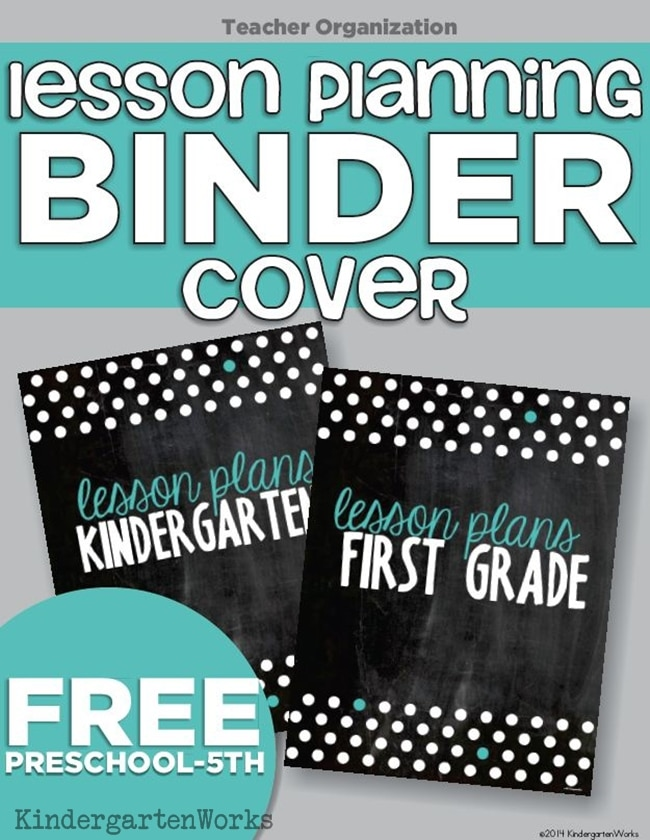 picture relating to Teacher Binder Printables identify Lesson Creating Binder Handles - 4 Absolutely free Printables - Educate Junkie
