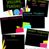 Back to School and Parent Nights – 3 Simple Ideas
