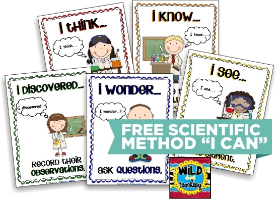 """Teach Junkie: 10 Scientific Method Tools to Make Teaching Science Easier - """"I Can"""" Printable Science Experiment Posters"""