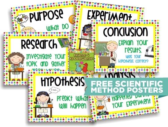 Teach Junkie: 10 Scientific Method Tools to Make Teaching Science Easier - Scientific Method for Kids Posters