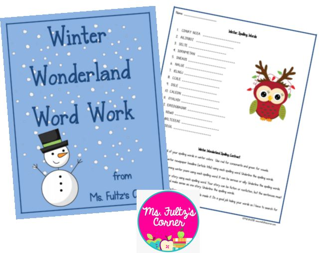 Scrambled Winter Vocabulary Words Worksheet - Teach Junkie