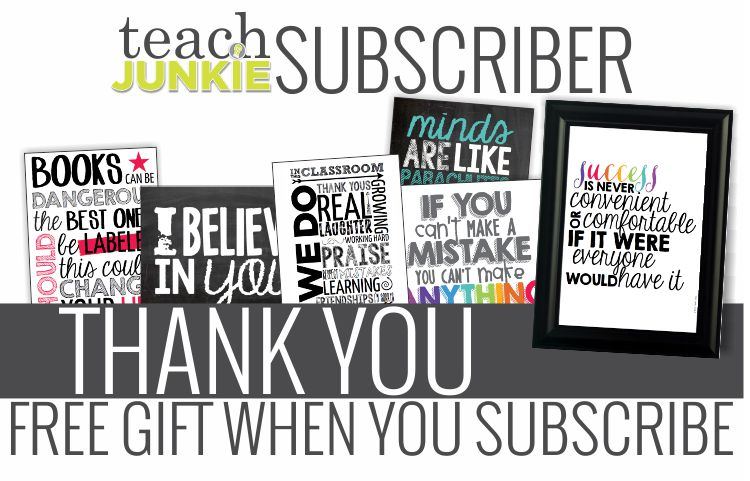 Thank You Subscriber Gift - Teach Junkie