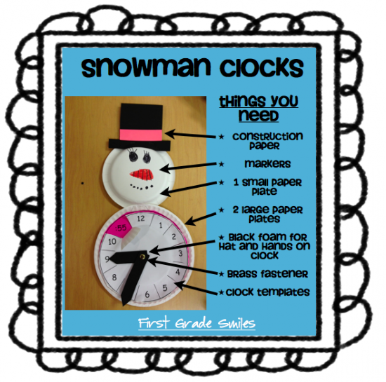 18 Telling Time To The Hour Resources - telling time with snowmen - Teach Junkie