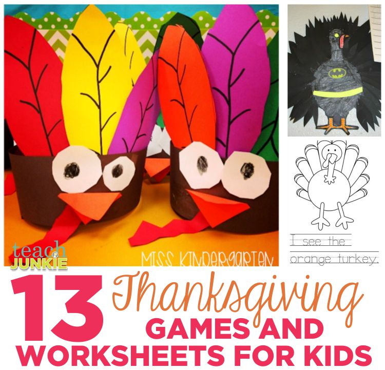 Thanksgiving Crafts and More in the Classroom - TeachJunkie.com