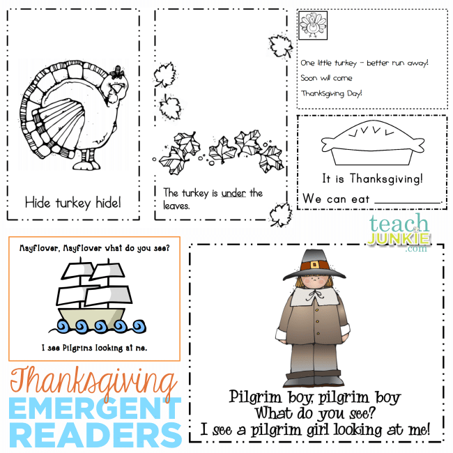 Thanksgiving Emergent Readers - TeachJunkie.com