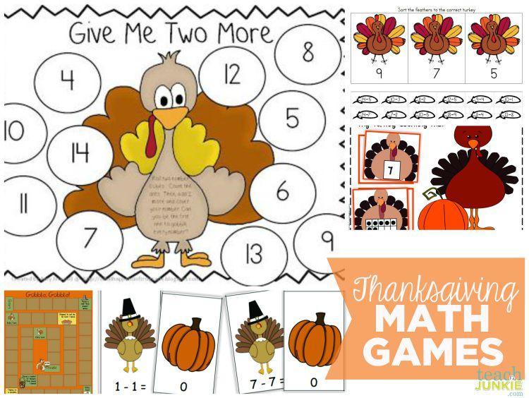 Thanksgiving Games - TeachJunkie.com